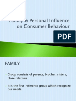 Family & Personal Influence on Consumer Behaviour