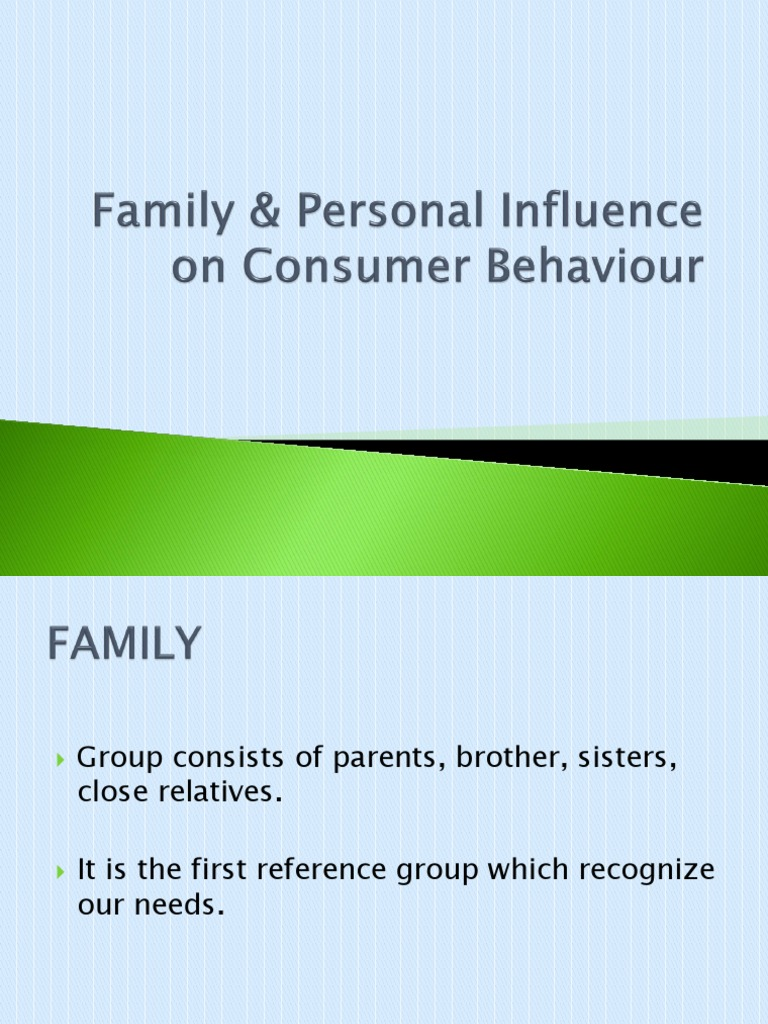 personal influence on consumer behaviour
