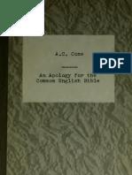 11- Coxe - An Apology for the Common English Bible