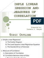 Simple Linear Regression and Measures of Correlation