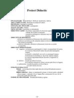 Proiect Didactic, Clasa I