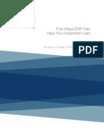 ERP and Lean MFG
