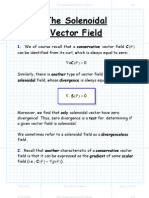The Solenoidal Vector Field