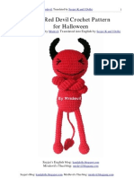 Free Red Devil Crochet Pattern for Halloween