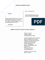 Arizona Supreme Court - Amicus Curiae, Thomas C. Horne, AZ Attorney General - Julia Vasquez Vs. Deutche Bank