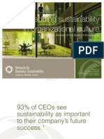 Embedding Sustainability in Organizational Culture