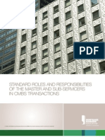 Whitepaper Standard Roles and Responsibilities of the Master and Sub ServicersInCMBSTransactions
