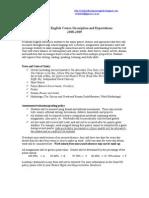 Freshman English Course Description and Expectations