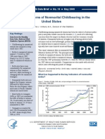 US Center For Disease Control (CDC) Report