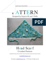 Head Scarf Crochet Pattern