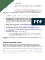 Sp11 TECS Recognition Ceremony Details