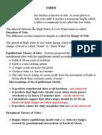Tidal Theory