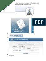 Procedimiento para obtención del certificado de antecedentes disciplinarios