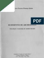 Rudimentos de Archeologia, de Francisco Tavares Proença Júnior