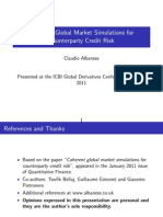 Albanese - Coherent Global Market Simulations for Counter Party Credit Risk (ICBI Global Derivatives Paris 2011)