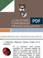 Componentes y Programacin Del Proceso Evaluativo