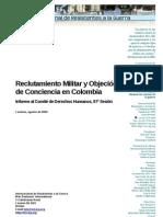 Reclutamiento Militar y Objeción de Conciencia en Colombia