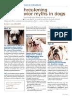 Veterinary Behavior Myths