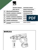 Perforateur Makita Bhr202 ( Annexe 674 ) - Notice