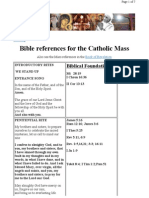 Bible References for the Holy Mass