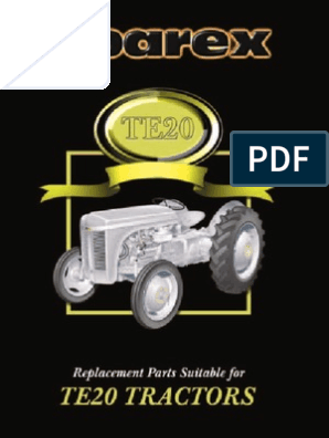 Ferguson Te20_tef20 Parts List | Carburetor | Rotating Machines
