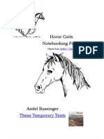 Horse Gaits Note Booking