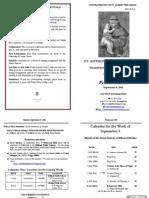Bulletin 2011-09-04