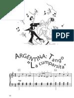 Tango Argentin - La a - Piano Très Facile
