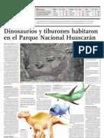 Dinosaurios y tiburones habitaron en el Parque Nacional Huascarán