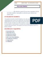 Practica n3 de Pila Galvanica