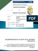INCORPORACIÓN DE LAS NNTT EN EL ENTORNO EDUCATIVO