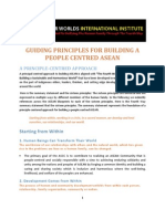 Guiding Principles for Building a People-Centred ASEAN