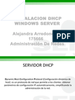Configuracion Dhcp en Windows Server Alejandra Arredondo Marin 175666