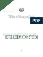 Reservation System h