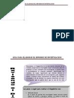 Guia Para Elaborar El Informe de Investigacion 2 y 3