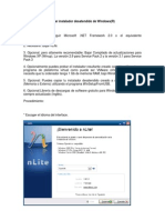 Manual nLite Para Crear Instal Ad Or dido de Windows