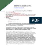 Aplicaciones de la teoría de conjuntos al análisis