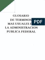 64 Glosario de Terminos Mas Usuales en La Admin is Trac Ion Pu