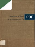 Introduccion Al Estudio de La Admin is Trac Ion Publica