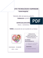 Aplicacion de Los Valores en La Familia.