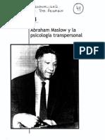 Cap 14 - Abraham Maslow y La Psicologia Trans Personal - Sin Ed