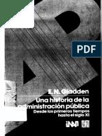 Una Historia de La Admin is Trac Ion Publica Vol 1
