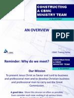 Building CBMC Ministry Team
