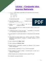 1 - Exercícios - Conjunto dos Números Naturais