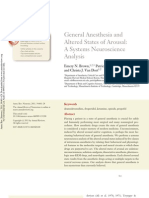 General Anesthesia and Altered States of Arousal