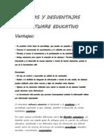 Ventajas y Desventajas Del Software Educativo