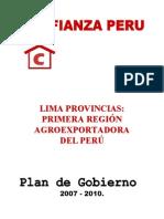 Plan de Gobierno 2007 2010