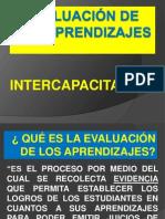 EVALUACIÓN DE LOS APRENDIZAJES CAPACITACIÓN