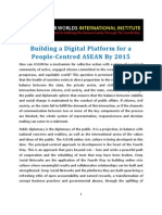 Building a Digital Platform for a People-Centred ASEAN by 2015
