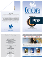 Cordova Church of Christ Bulletin Rancho Cordova September 4, 2011
